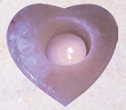 portalumino di sale cuore